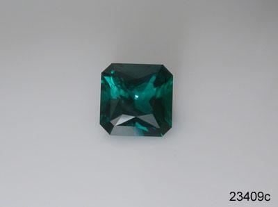 Emerald gemstones: faceted lab grown created emeralds